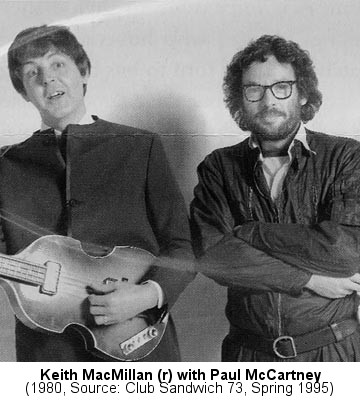 Keith MacMillan (right) with Paul McCartney, ca. 1980