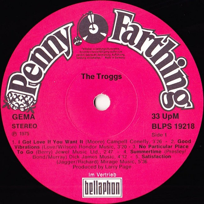 Cvinyl Com Label Variations Penny Farthing Records